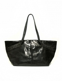 Delle Cose leather bag with lateral inserts 723-HORSE-26 order online