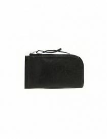 Portafogli online: Portafoglio Delle Cose in pelle nera con zip
