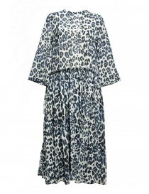 Womens dresses online: Sara Lanzi blue speckled long dress