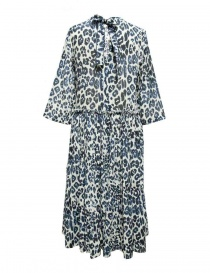 Sara Lanzi blue speckled long dress