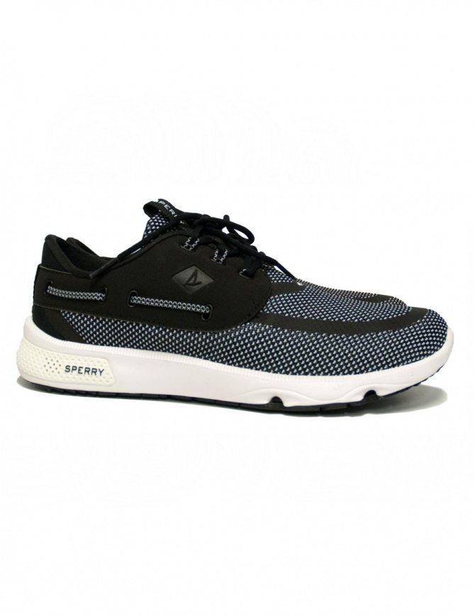 Sperry Top-Sider 7 Seas black and white sneakers