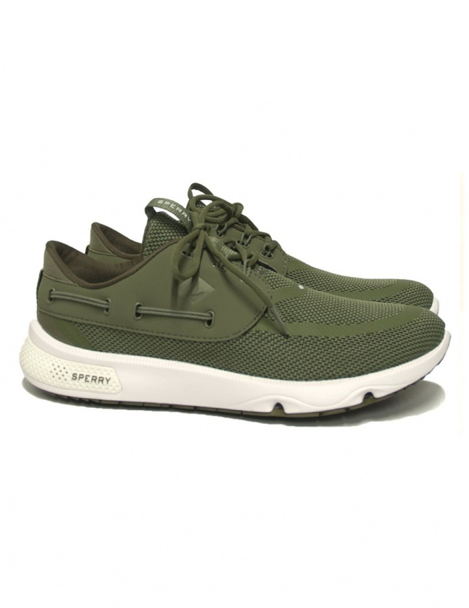 Sperry Top-Sider 7 Seas olive green sneakers