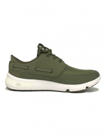 Sneakers Sperry Top-Sider 7 Seas colore verde oliva calzature-uomo