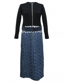 Abito Hiromi Tsuyoshi patchwork denim RS17-005-KNITDRESS-N order online