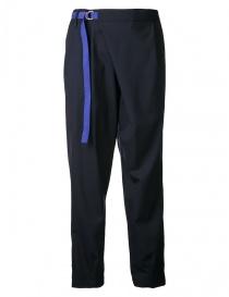 Pantaloni donna online: Pantalone Kolor colore navy con cinturino