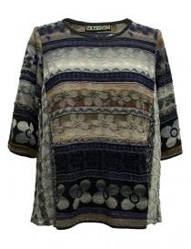 Womens knitwear online: M.&Kyoko mixed silk pullover
