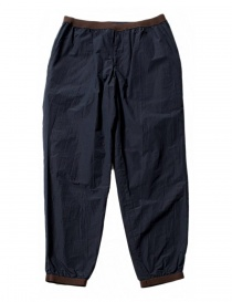 Kolor navy trousers with brown details