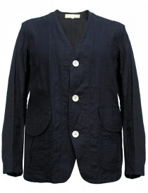 Giacca in lino Haversack colore navy 871727A-59-JACKET order online