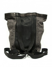 Guidi NBP01 leather and linen backpack