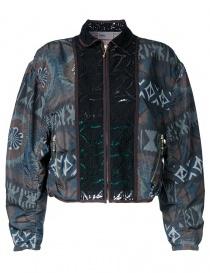 Womens jackets online: Kolor printed bomber jacket