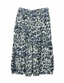 Sara Lanzi blue speckled skirt 05GC004018P-ANIMBLU order online