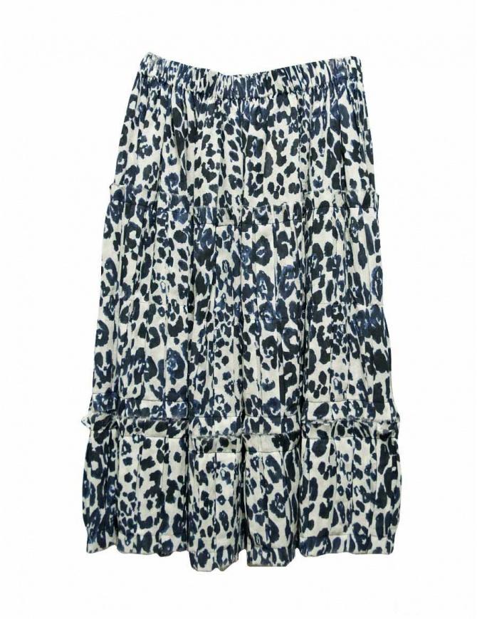 Sara Lanzi blue speckled skirt