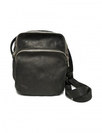 Guidi BR0 dark grey leather bag
