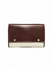 Beautiful People cream and brown leather wallet