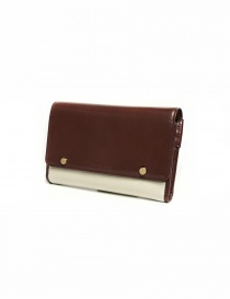 Beautiful People cream and brown leather wallet buy online