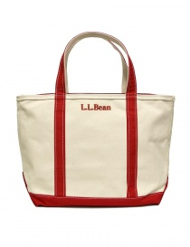 L.L. Bean red finishing tote bag