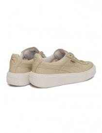 Sneaker Basket Platform Patent colore panna calzature-donna