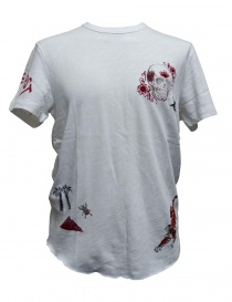 Mens t shirts online: True Religion embroidered white t-shirt