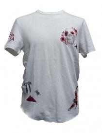 True Religion embroidered white t-shirt MSJAB2N072-1800 order online