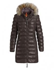 Cappotti donna online: Cappotto in pelle marrone scuro Parajumpers Demi