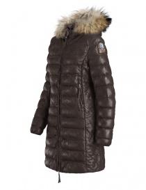 Parajumpers Demi dark brown leather coat