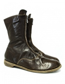 Green/brown leather Guidi 310 ankle boots 310-HORSE-ARMY-BOOTS order online