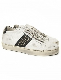 Leather Crown Iconic women's white/black sneakers WICONIC 16 BIANCO NERO order online