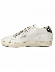 Leather Crown Iconic women's white/black sneakers