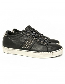 Mens shoes online: Leather Crown Iconic men's black sneakers