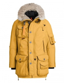 Mens jackets online: Parajumpers Musher saffron yellow parka jacket