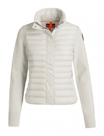 Womens jackets online: Parajumpers Cheney chalk cardigan jacket