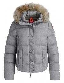 Womens jackets online: Parajumpers Kintia steel melange down jacket