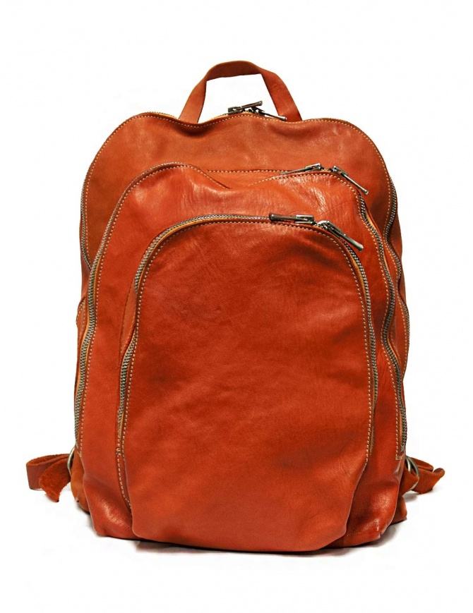 Zaino Guidi DBP04 in pelle colore arancione