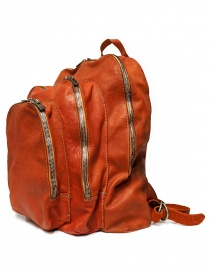 Guidi DBP04 orange leather backpack