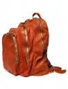 Zaino Guidi DBP04 in pelle colore arancione shop online borse
