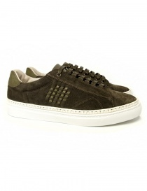 Mens shoes online: Be Positive Anniversary dark green sneakers
