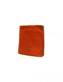 Portafoglio Guidi + Barny Nakhle B7 in pelle arancione