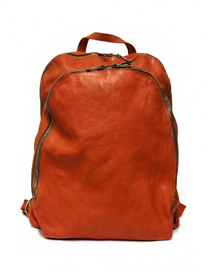 Zaino Guidi DBP06 in pelle colore arancione DBP06-SOFT-HORSE--CV21T borse online shopping