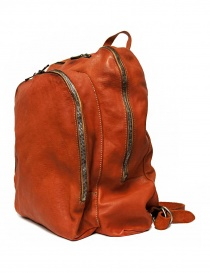 Guidi DBP06 orange leather backpack