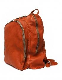 Zaino Guidi DBP06 in pelle colore arancione