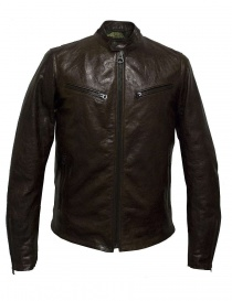 Rude Riders brown leather jacket