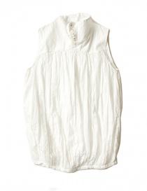 Womens shirts online: Kapital sleeveless white shirt