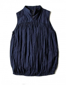 Womens shirts online: Kapital sleeveless blue shirt
