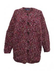 Maglieria donna online: Cardigan in lana Hiromi Tsuyoshi colore rosa