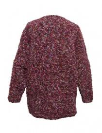 Cardigan in lana Hiromi Tsuyoshi colore rosa