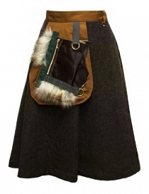 Womens skirts online: Kolor brown skirt
