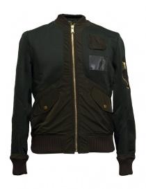 Mens suit jackets online: Kolor green bomber jacket