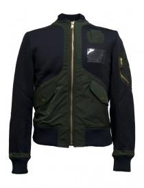 Mens suit jackets online: Kolor blue bomber jacket