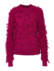 Womens knitwear online: Alessia Xoccato magenta red sweater