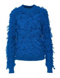 Womens knitwear online: Alessia Xoccato ocean blue sweater